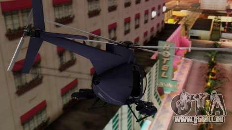 GTA 5 Buzzard für GTA San Andreas zurück linke Ansicht