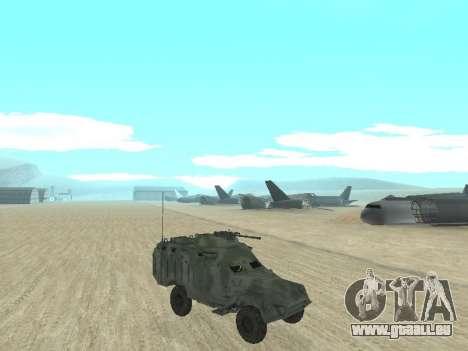 L'APC 40 pour GTA San Andreas sur la vue arrière gauche