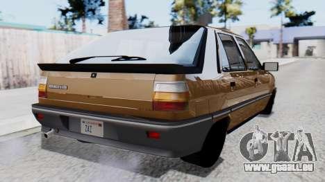 Renault 11 Tuning pour GTA San Andreas laissé vue