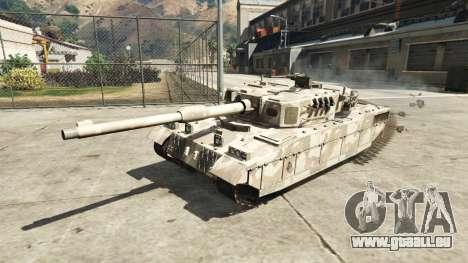 GTA 5 Miniature Rhino tank arrière vue latérale gauche