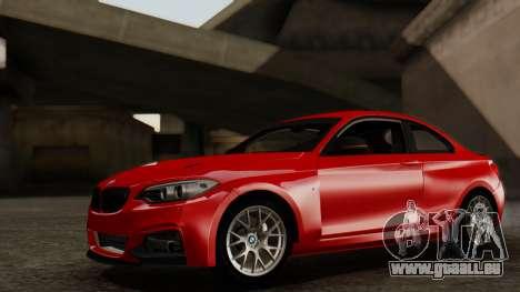BMW M235i F22 Sport 2014 pour GTA San Andreas vue intérieure