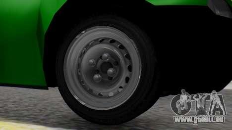 Chevrolet Combo 1.4 v2 pour GTA San Andreas sur la vue arrière gauche