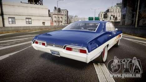 Chevrolet Impala 1967 Custom livery 3 für GTA 4 hinten links Ansicht