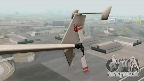 AH-6J Little Bird für GTA San Andreas zurück linke Ansicht
