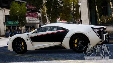 Lykan Hypersport 2015 EPM pour GTA 4 Vue arrière de la gauche