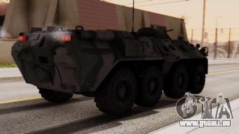 BTR-80 pour GTA San Andreas laissé vue