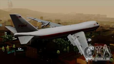 Boeing 747 TWA für GTA San Andreas linke Ansicht
