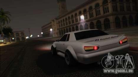 Elegy Rocket Bunny Edition für GTA San Andreas Seitenansicht