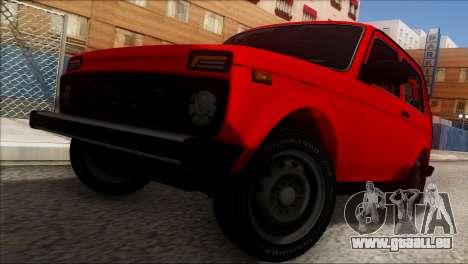 VAZ Niva 2121 BUFG Édition pour GTA San Andreas vue de dessus