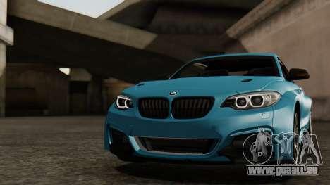 BMW M235i F22 Sport 2014 pour GTA San Andreas moteur