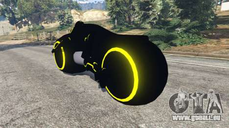 Tron Bike yellow pour GTA 5
