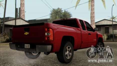 Chevrolet Silverado 1500 LT 2010 pour GTA San Andreas laissé vue