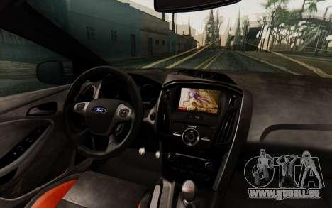 Ford Focus ST 2012 pour GTA San Andreas vue intérieure