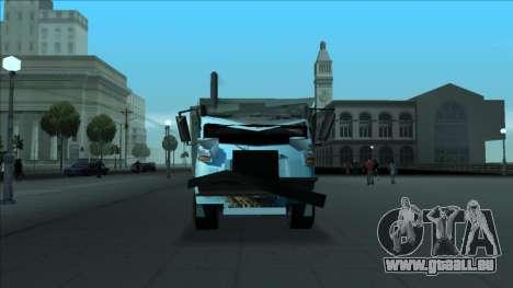 TDK Volvo Xpeditor Garbage Crash Version pour GTA San Andreas vue de dessus