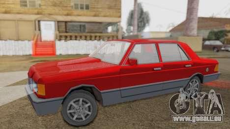GS Wolhabend pour GTA San Andreas sur la vue arrière gauche