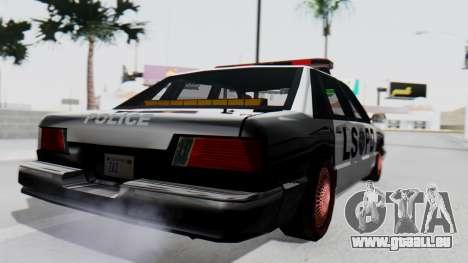 Police LS with Lightbars pour GTA San Andreas laissé vue