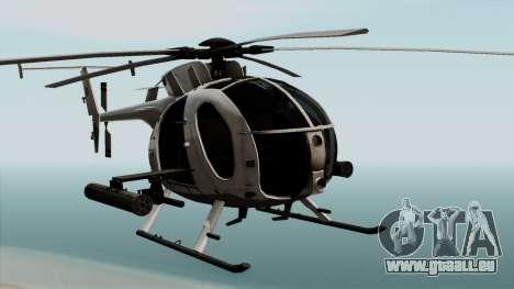 AH-6J Little Bird für GTA San Andreas Rückansicht