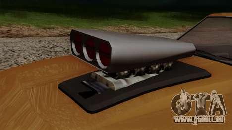 GTA 5 Declasse Vigero pour GTA San Andreas vue intérieure