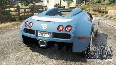 GTA 5 Bugatti Veyron Grand Sport v2.0 hinten links Seitenansicht
