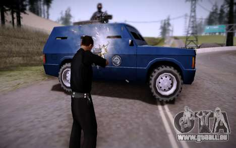 La Voiture Blindée. pour GTA San Andreas vue de droite