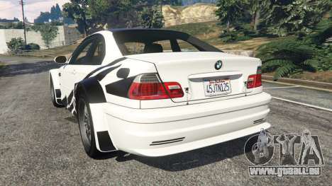 GTA 5 BMW M3 GTR E46 black on white hinten links Seitenansicht