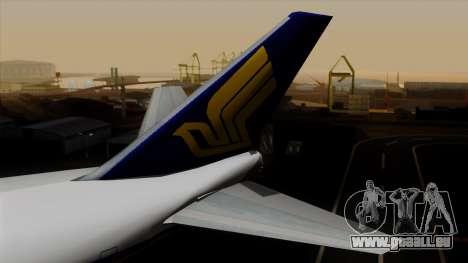 Boeing 747 Singapore (Old) pour GTA San Andreas sur la vue arrière gauche