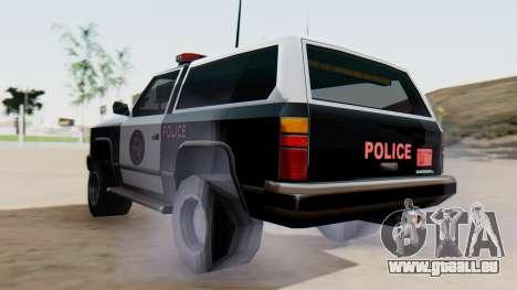 Police Ranger with Lightbars für GTA San Andreas linke Ansicht