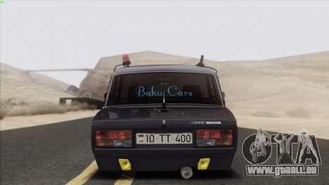 VAZ 2107 Avtosh Style für GTA San Andreas Unteransicht