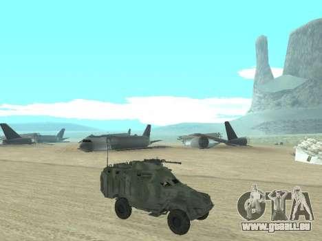 Die APC-40 für GTA San Andreas obere Ansicht