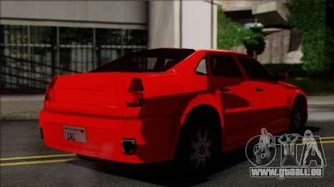 Chrysler 300C SA Style pour GTA San Andreas laissé vue