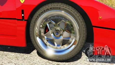 GTA 5 Ferrari F40 1987 v1.1 vorne rechts Seitenansicht