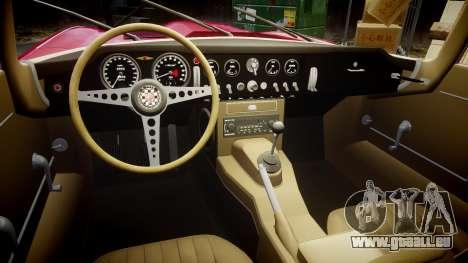 Jaguar E-type 1961 pour GTA 4 est une vue de l'intérieur