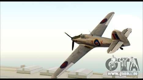 Hawker Hurricane MK IA pour GTA San Andreas laissé vue