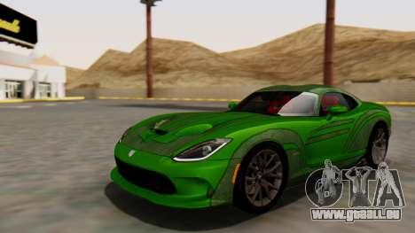 Dodge Viper SRT GTS 2013 HQLM (HQ PJ) für GTA San Andreas Innenansicht