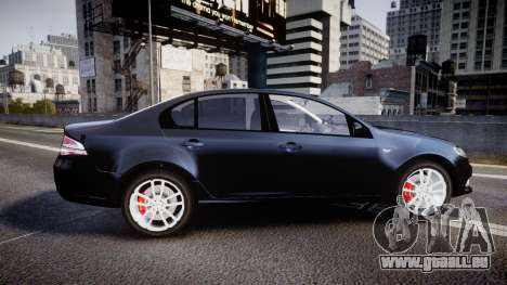 Ford Falcon FG XR6 Unmarked Police [ELS] v2.0 für GTA 4 linke Ansicht