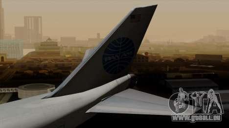Boeing 747 PanAm pour GTA San Andreas sur la vue arrière gauche