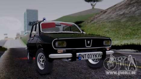 Dacia 1301 Securitate pour GTA San Andreas sur la vue arrière gauche