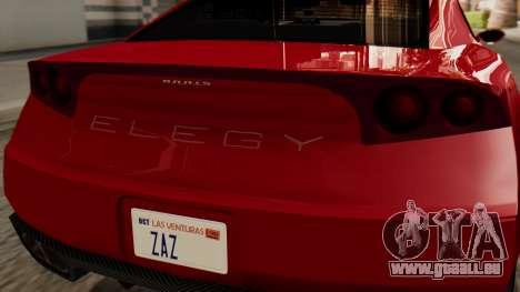 GTA 5 Annis Elegy RH8 IVF pour GTA San Andreas vue arrière