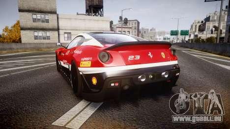 Ferrari 599XX 2010 Scuderia Ferrari für GTA 4 hinten links Ansicht