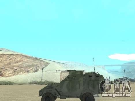 L'APC 40 pour GTA San Andreas vue intérieure