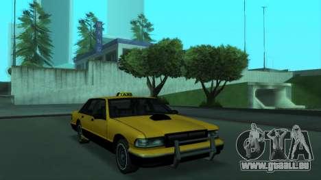 New Taxi für GTA San Andreas linke Ansicht