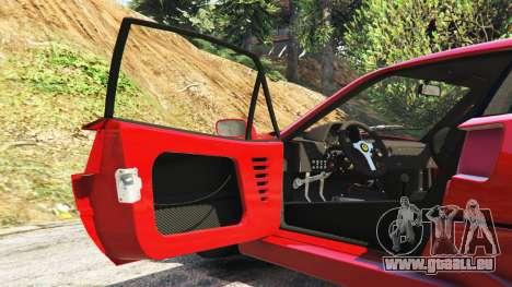 GTA 5 Ferrari F40 1987 v1.1 Lenkrad