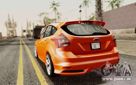 Ford Focus ST 2012 pour GTA San Andreas laissé vue