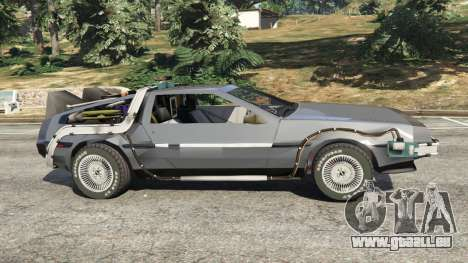 GTA 5 DeLorean DMC-12 Back To The Future v0.1 vue latérale gauche