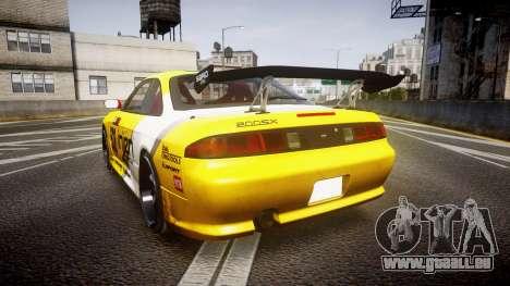Nissan Silvia S14 TOKICO pour GTA 4 Vue arrière de la gauche