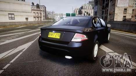 Ford Falcon FG XR6 Unmarked NSW Police [ELS] pour GTA 4 Vue arrière de la gauche