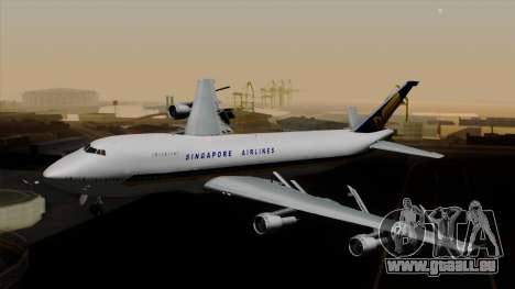 Boeing 747 Singapore (Old) pour GTA San Andreas