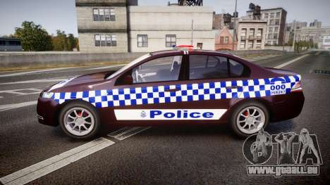Ford Falcon FG XR6 Turbo NSW Police [ELS] v3.0 für GTA 4 linke Ansicht