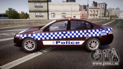 Ford Falcon FG XR6 Turbo NSW Police [ELS] v3.0 für GTA 4 linke Ansicht