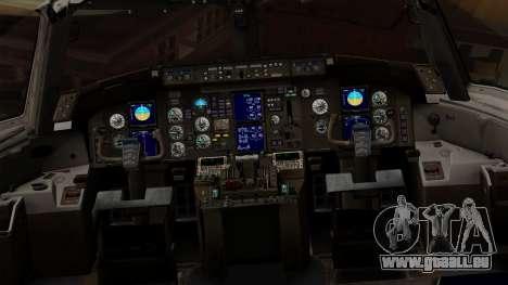 Boeing 757-200 (N757A) für GTA San Andreas Innenansicht